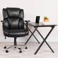 This Big & Tall Executive Office Chair is an ideal chair for larger and taller professionals who spend long hours sitting behind a desk. An extended upper back with integrated headrest and built-in lumbar support reinforces healthy posture. The 22