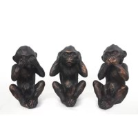 """Great design and craftsmanship for these speak-hear-see-no evil monkeys, It's a visual reminder of """"see no evil, speak no evil and hear no evil"""" which is associated with being of good mind, speech and action.  These figurines stand perfectly on any countertop with their cast resin. They are skillfully crafted to be balanced and durable."""