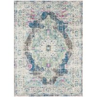 This area rug features modern inspired designs that will effortlessly integrate and update your decor space.