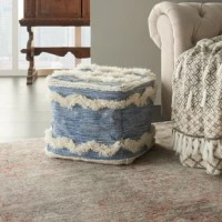 Pull your living room decor together with this boho-inspired pouf ottoman, the perfect piece for extra seating and dinners on the couch. Crafted atop an engineered wood frame, the pouf strikes a square silhouette and comes upholstered in 100% cotton for a textured touch. It comes tastefully tufted with cotton fringe on each side, giving it a pop of pattern, while inside, it's filled with a polyester material for a cushioned seat. Use this as a chair for extra guests, or as a mini table for your...