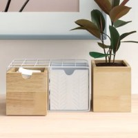 Keep pencils, notes, and other small desktop clutter neatly tucked away with this handy organizer! Crafted from a combination of metal and wood, it features a streamlined, minimalist design that's perfect for a modern feel. This piece features two drawers inside a metal mesh design and a single container, so it's perfect for fitting into your workspace. Plus, since it measures a slim 5.1'' H x 13.6'' W x 4.3'' D, it's just the thing to tidy up smaller desk clutter without dominating desk space.