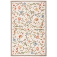 Sporting an alluring floral pattern, this Charlton Home® Ivory /Multi-color Area Rug will make a stylish addition to your living room or dining room. Handwoven from 100% pure virgin wool, this exquisite area rug is made using a hooked technique that gives it sufficient durability and sturdiness. It features a number of intricate motifs and floral patterns that are spread against a sage background and is ideal for indoor use. This Ivory /Multi-color Area Rug from Charlton Home® comes with a...