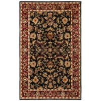 No matter which room you're decorating, an area rug is a must – from enhancing an existing color scheme to acting as an unexpected focal point, they're sure to please. This design sports a Persian-inspired motif in black, red, green, and gold for a classically-inspired appearance. Crafted from wool, it features a 0.5'' pile height that encourages you to sink your toes in. (Plus, it remains easy to clean with regular vacuuming.) We recommend pairing this item with a rug pad to keep it...