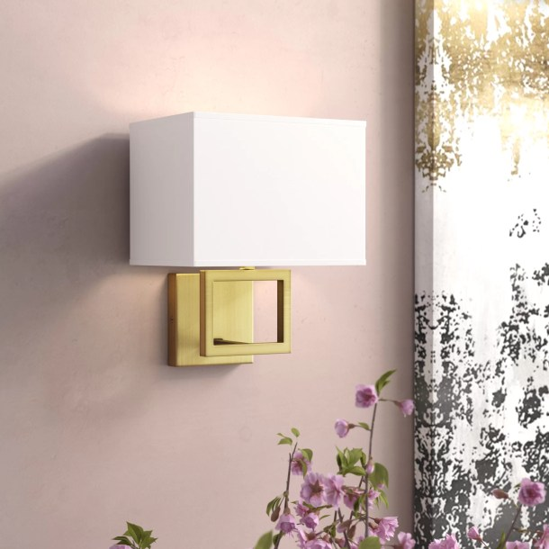 Boykin 1-Light Dimmable Candle Wall Light