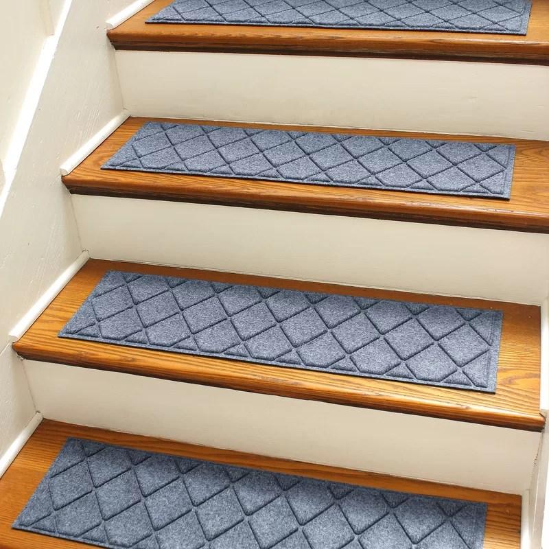 Tucker Murphy™ Pet Beaupre Bluestone Stair Tread Reviews Wayfair   Wayfair Stair Tread Rugs   Astoria Grand   Beige Carpet   Lis Living   Bullnose Carpet   Non Slip Stair