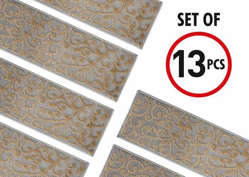 Fleur De Lis Living Spohn Stair Tread Reviews Wayfair   Wayfair Stair Tread Rugs   Bullnose Carpet   Tucker Murphy   Slip Backing   Non Slip Stair   Skid Resistant