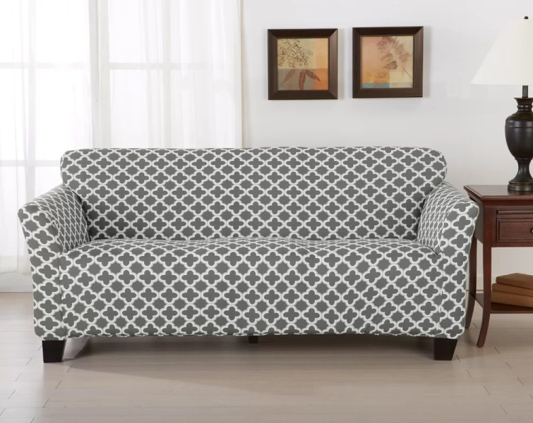 Home Fashion Designs Brenna Box Cushion Sofa Slipcover   Reviews     Brenna Box Cushion Sofa Slipcover