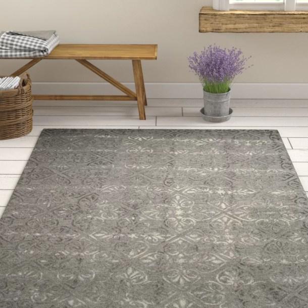 Edmeston Hand-Tufted Wool Gray Rug