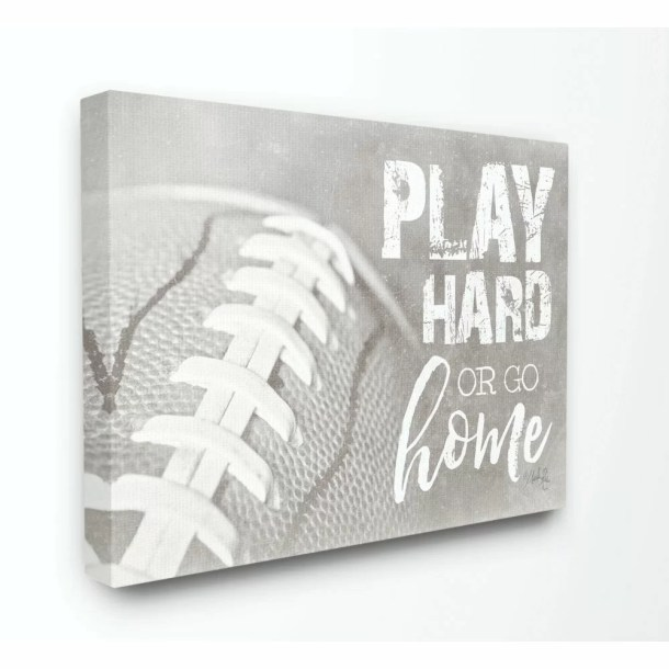 Sherrod Play Hard or Go Home Football Kids Wall Décor