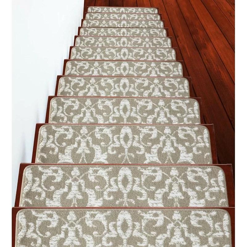 Canora Grey Aghacully Cozy Vibrant And Soft Stair Tread Wayfair   Wayfair Stair Tread Rugs   Astoria Grand   Beige Carpet   Lis Living   Bullnose Carpet   Non Slip Stair