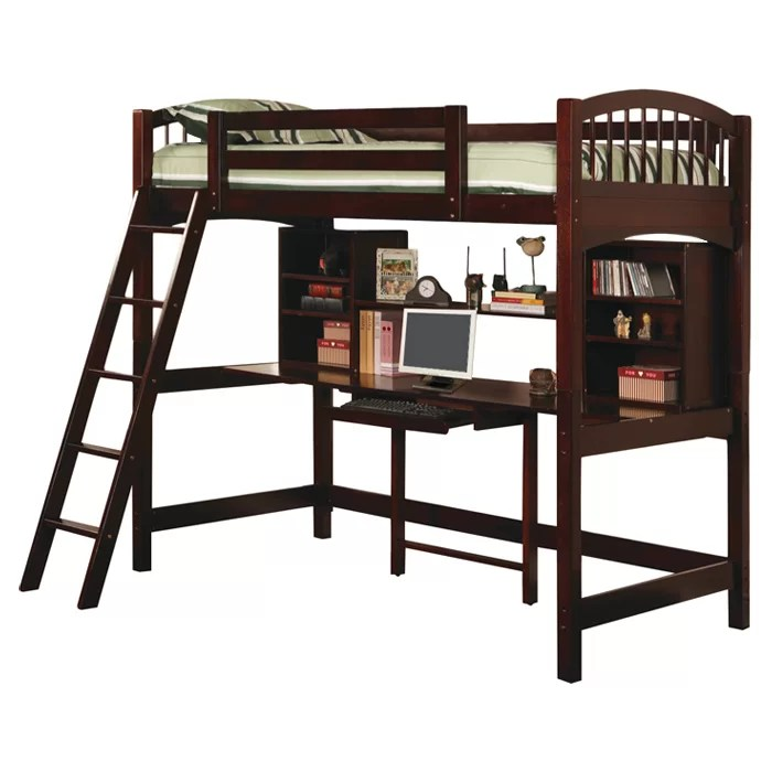 Loft Bed Twin With Desk And Shelf