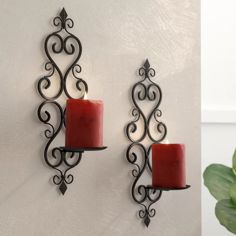 Tall Iron Wall Sconce (Set of 2)