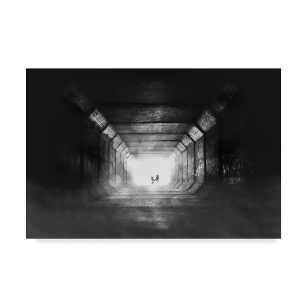 'Go Home Tunnel' Photographic Print on Wrapped Canvas