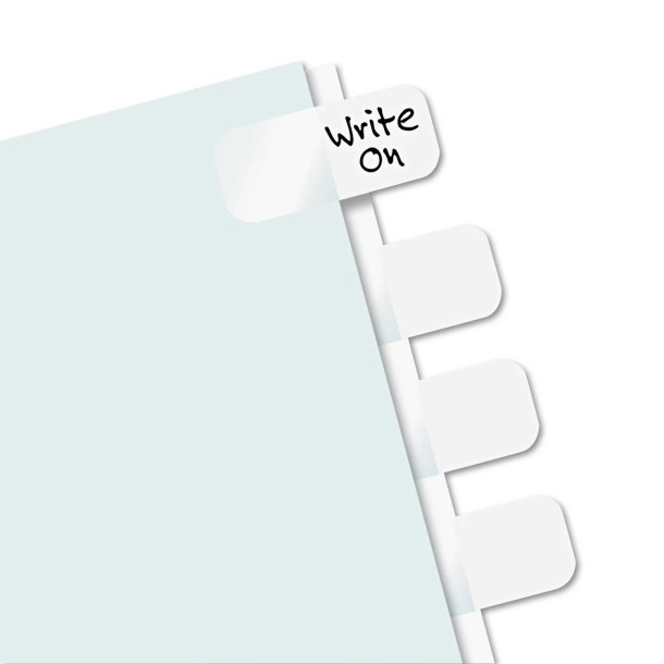 Side-Mount Self-Stick Plastic Index Tab, 416/Pack