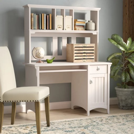 Lark Manor Ottman Computer Desk with Hutch   Reviews   Wayfair Ottman Computer Desk with Hutch