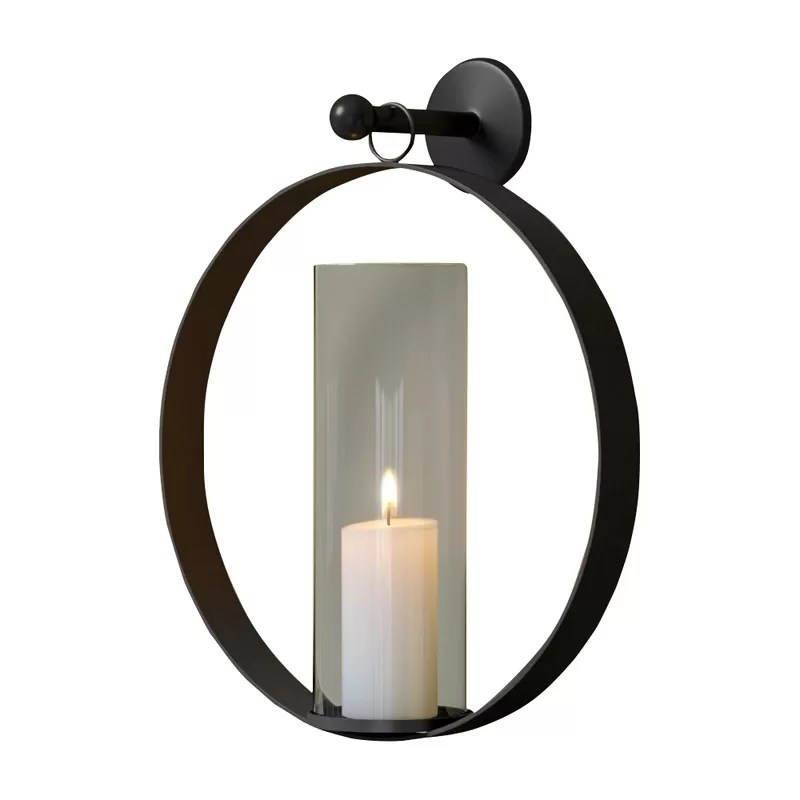 Hanging Tall Iron Wall Sconce
