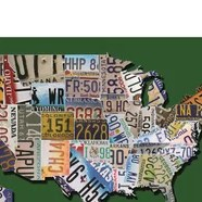 HD Decor Images » Usa License Plate Map On Wood   Wayfair  USA License Plate Map on Billiard Green  Graphic Art Print on Canvas