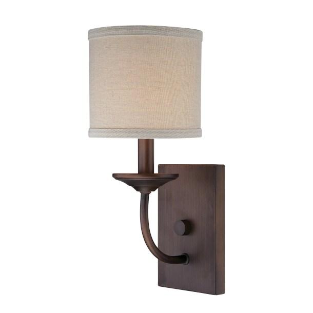 Steuben Rubbed Bronze 1-Light Candle Sconce