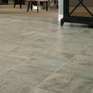 Stone Look Laminate Flooring   Wayfair GardenStone 12  x 48  x 8mm Tile Laminate Flooring in Silver Sage