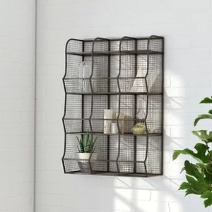 Wire Mesh Shelving   Wayfair co uk Wire Mesh 9 Bin Cubical Storage