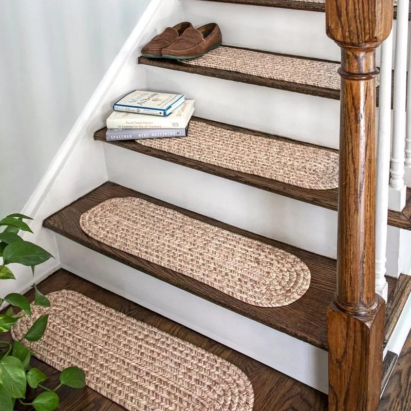 Gracie Oaks Godinez Stair Tread Reviews Wayfair | Oak Stair Treads For Sale | Hardwood Lumber | Risers | Wood Stair | Stair Parts | Wood