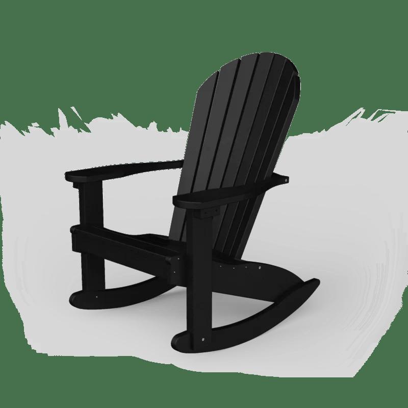 Poly Plastic Rocking Adirondack Chair