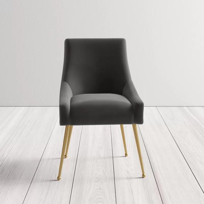 Dusek Velvet Upholstered Side Chair