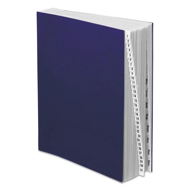Expandable Desk File, 1-31/Jan-Dec Index, Letter Size, Pressboard