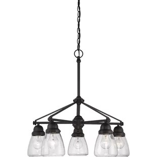 Coastal Chandeliers You ll Love   Wayfair Hansen 5 Light Shaded Chandelier