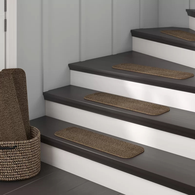 Winston Porter Thedford Stair Tread Reviews Wayfair | Carpet On Tread Only | Wood Stairs | Risers | Stair Tread | Hardwood | Staircase