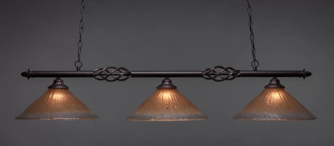 Pierro 3-Light Pool Table Linear Pendant