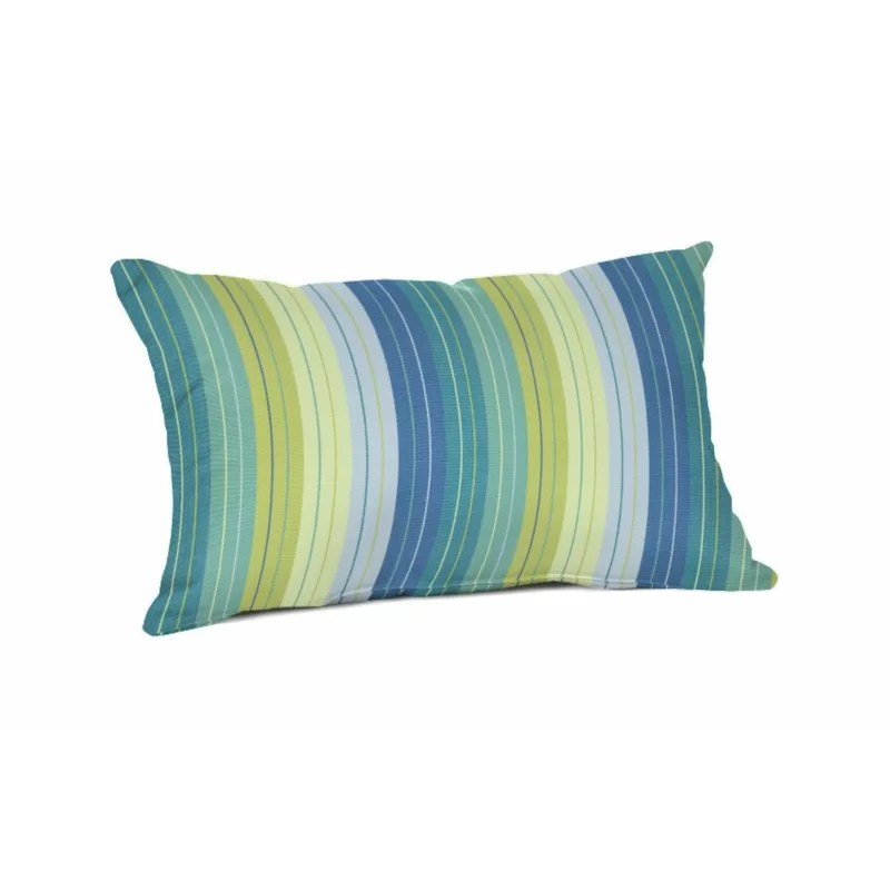 Crawley Sunbrella Indoor/Outdoor Striped Lumbar Pillow Cover & Insert