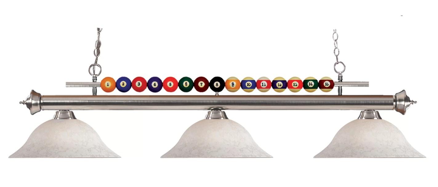 Chapa 3-Light Pool Table Lights Linear Pendant