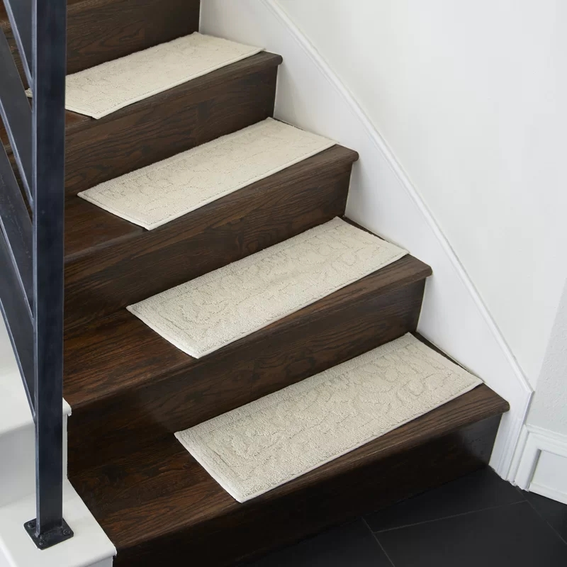 Darby Home Co Jeanette Accent Rug Natural White Stair Tread | Wayfair Carpet Runners For Stairs | Tucker Murphy | Brown Beige | Hallway Carpet | Wool Rug | Wall Carpet