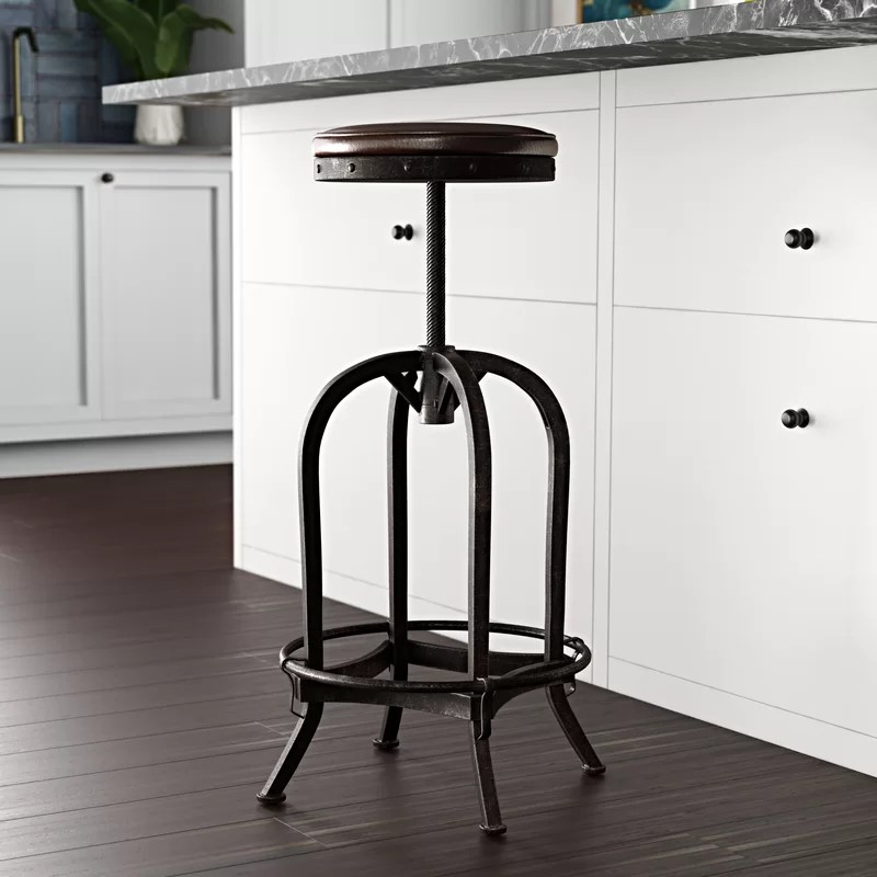 Alkaios Swivel Adjustable Height Bar Stool
