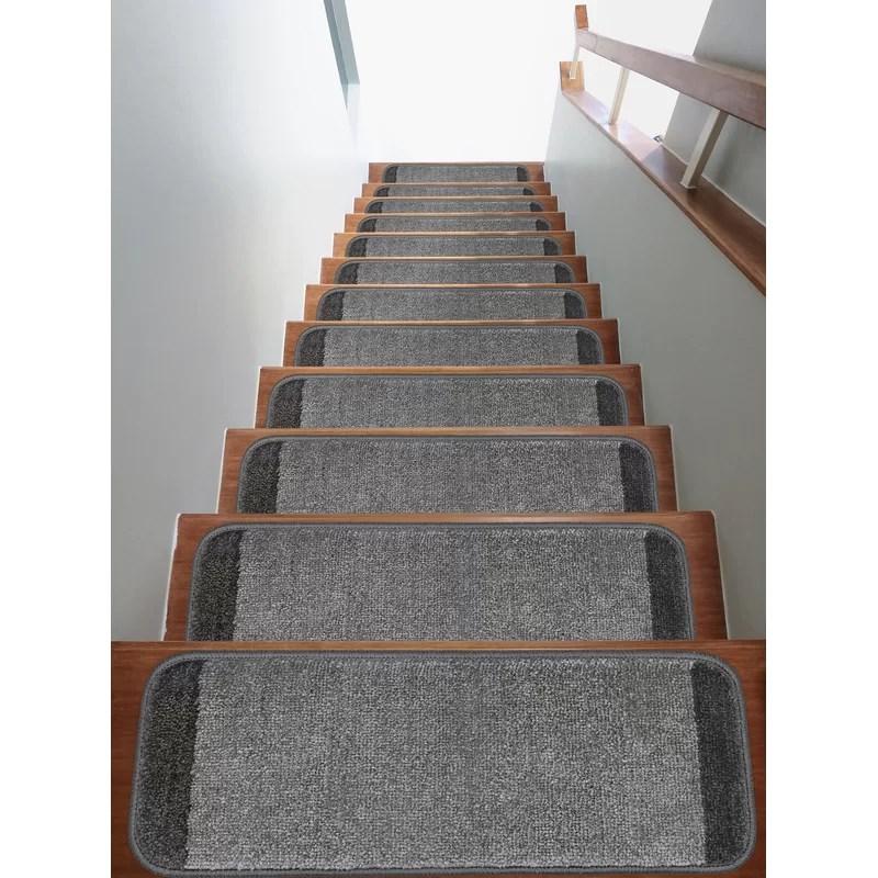 Red Barrel Studio® Yadiel Non Slip Stair Tread Reviews Wayfair   Wayfair Stair Tread Rugs   Astoria Grand   Beige Carpet   Lis Living   Bullnose Carpet   Non Slip Stair