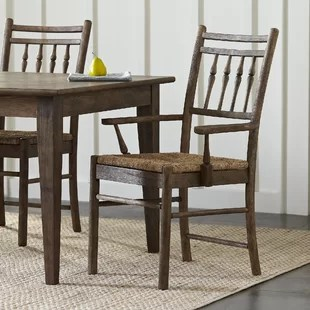 Elegant Dining Room Chairs   Wayfair Riverbank Dining Room Arm Chair