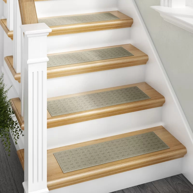 Darby Home Co Berkine Sage Stair Tread Reviews Wayfair   Wayfair Carpet Runners For Stairs   Stair Treads   Stair Rods   Area Rug   Wool Rug   Treads Carpet