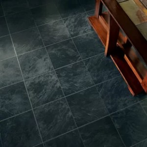 Tile Look Laminate Flooring Stones and Ceramics 11 81  x 47 48  x 8 3mm Tile Laminate Flooring in Slate  Ebony Mist