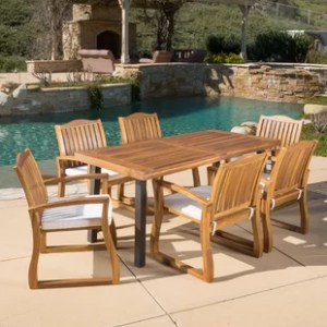 Darby Home Co Patio Dining Sets   Birch Lane Isidore 7 Piece Dining Set with Cushions