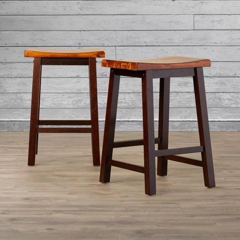 Backless Wood Bar Stools