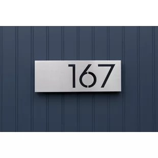 Modern   Contemporary Address Plaques   Signs You ll Love   Wayfair Save