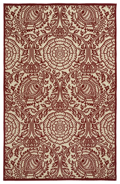 Covedale Red/Cream Area Rug