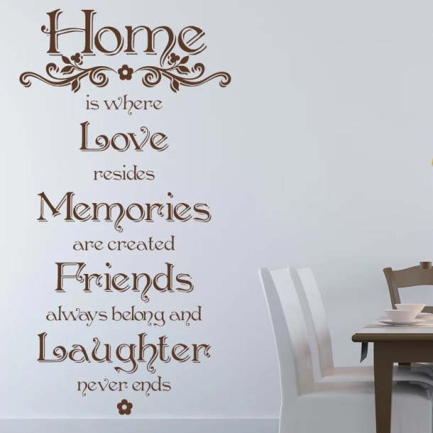 Home Quote Wall Decal