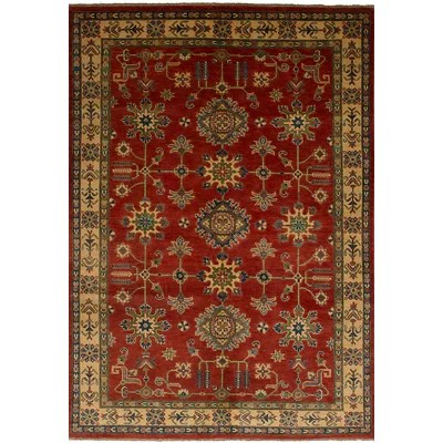 Discount One Of A Kind Alarice Hand Knotted 2010s Uzbek Gazni Red Beige 5 10 X 8 10 Wool Area Rug Furniture Online