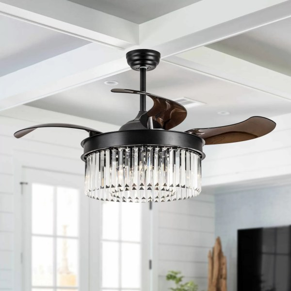 crystal chandelier with fan # 39