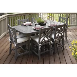 POLYWOOD     Patio Dining Sets   Wayfair Chippendale 7 Piece Dining Set with Cushions