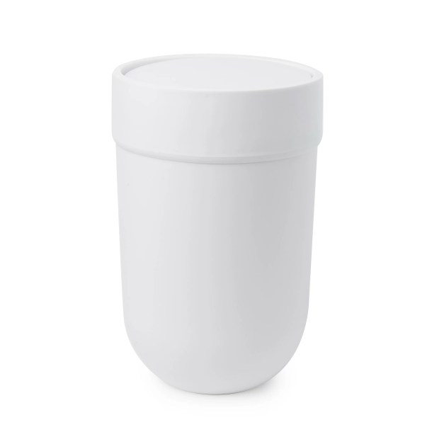 Touch Consumables HSM Plastic 2 Gallon Swing Top Trash Can