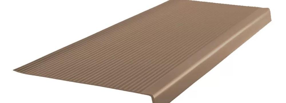 Roppe 42 Vinyl Rib Square Nose Stair Tread Wayfair | Wood Look Vinyl Stair Treads | Ceramic Tile | Shaw Floorte | Laminate Flooring | Roppe | Stair Makeover