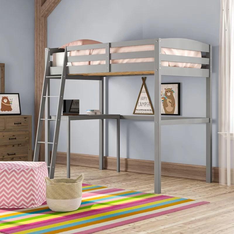 Mallika Loft Bed with Desk